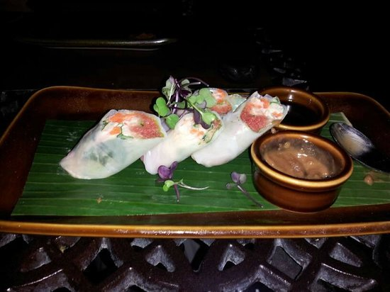 RockSugar Pan Asian Kitchen: Spicy Ahi Rolls