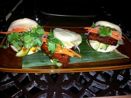RockSugar Pan Asian Kitchen: Glazed Pork Belly Buns