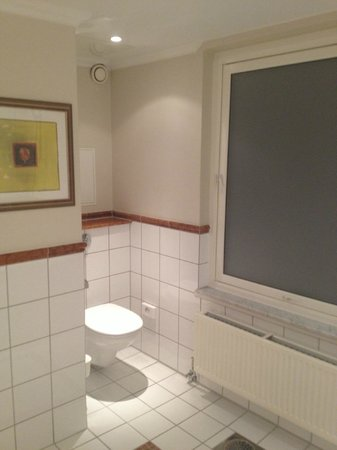 Hotel Continental Oslo: Standard room bathroom with window that opens