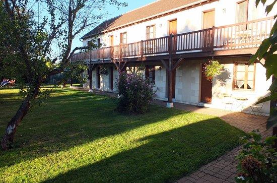 Auberge de Launay: les chambres sur le jardin