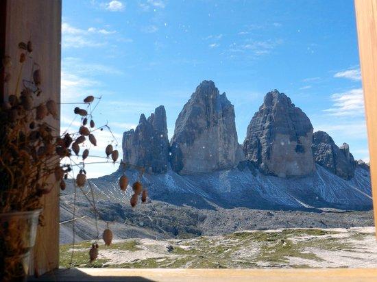 Dreizinnenhütte, Rifugio Antonio Locatelli: panorama dalla sala da pranzo
