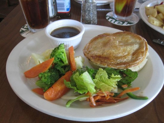 Triple Crown Irish Pub : Full platter with pot pie...huge-and there were chips too!