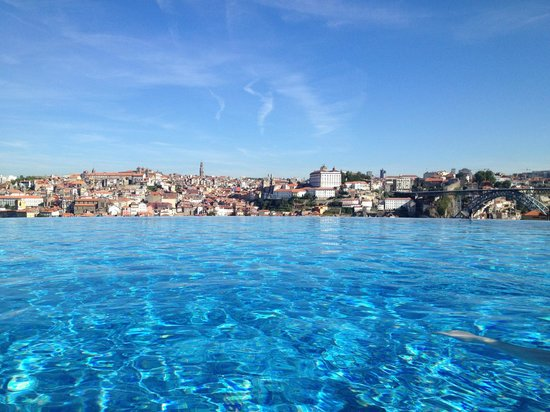The Yeatman: The 'decanter' outside pool, with its spectacular view across the Douro to Porto