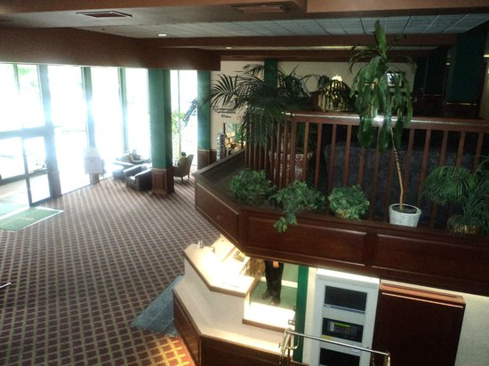 Rogue Regency Inn: View from upstairs down to lobby