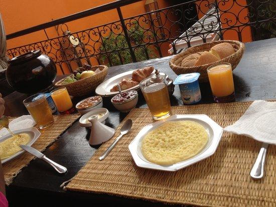 Riad Hermes: petit dejeuner