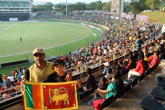 Pallekele International Cricket Stadium : the flag we brought back with us!