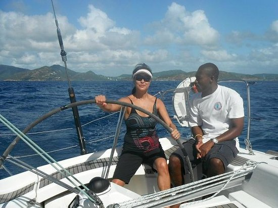 Ondeck Ocean Racing: Kishawn looking as relaxed as the guests .. a natural