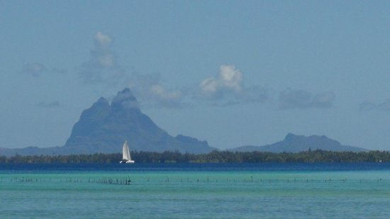 Vahine Private Island Resort: Bora Bora in the distance