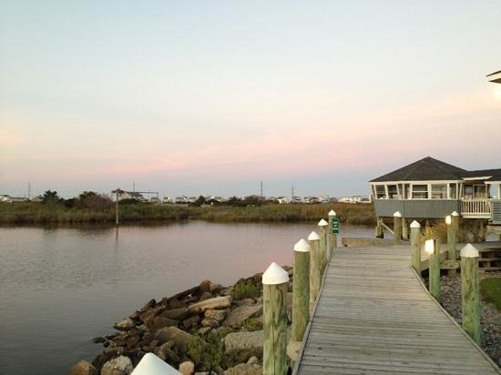 Sugar Creek Seafood Restaurant : boardwalk sunset