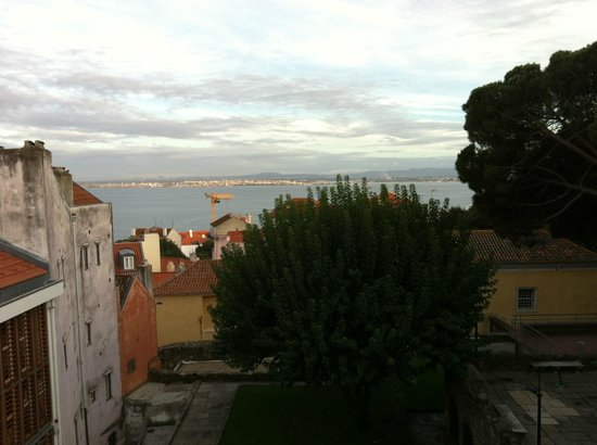 Solar Do Castelo: View from room 21, looking south to river