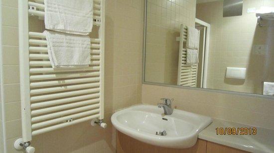 Hotel Rosanna: lovely bathroom with hair dryer
