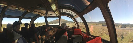 Grand Canyon Railway: Panorama from Dome Car