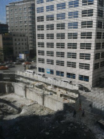 The Grand Hotel Myeongdong: Overrated Boutique Hotel: Deluxe room faces worksite 2
