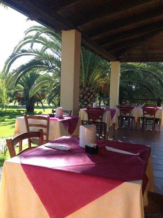 Agriturismo I Vigneti: Frukost på restaurangens veranda