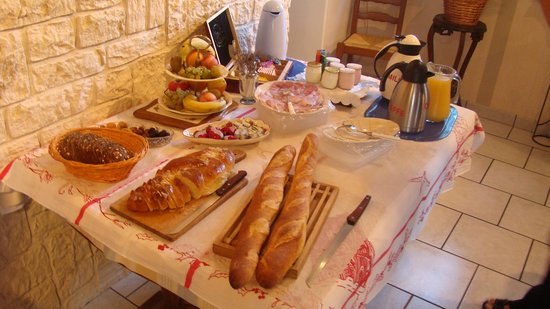 Chez Dany : table du petit déjeuner