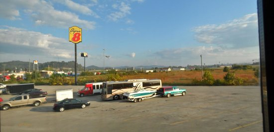 Super 8 Grayson: The view outside the room. I-64 is off in the distance.