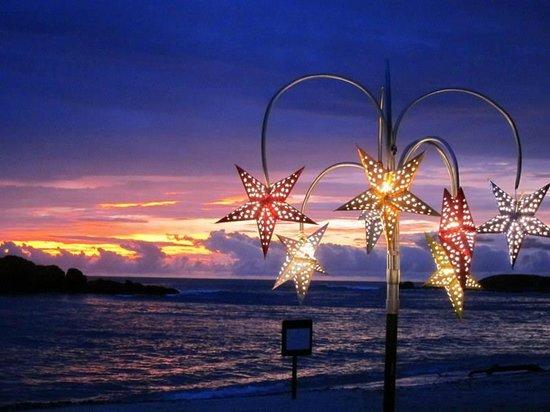 The St. Regis Punta Mita Resort : sunset beach dinner prepared by staff