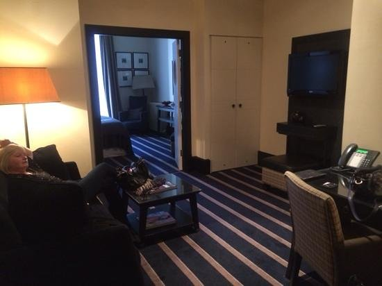 Malmaison Hotel : living area of one bedroom suite