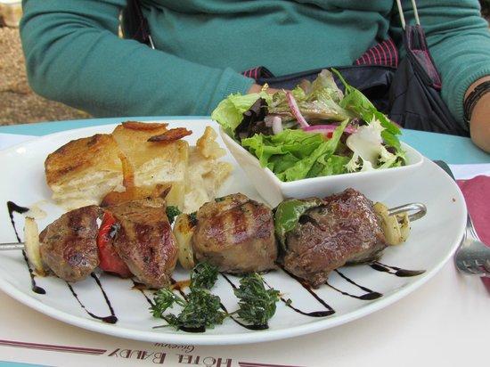 Restaurant Baudy : Brochete de carneiro - ótimo