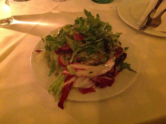 Hotel Deutsche Eiche: Salat zum Schnitzel