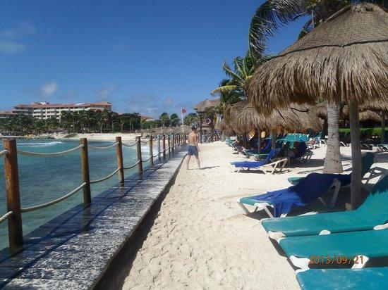 Catalonia Yucatan Beach: Beach and boardwalk