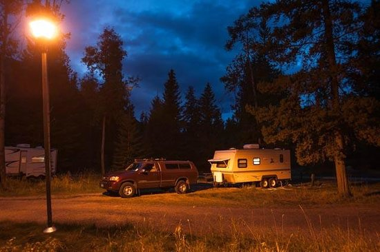 Whistlers Campground : Campground Street Light