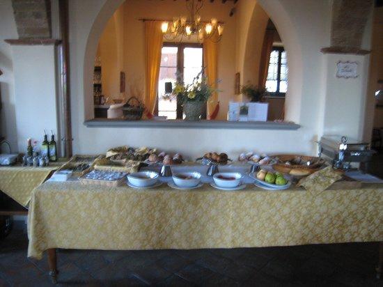 Villa San Filippo Resort: Breakfast table
