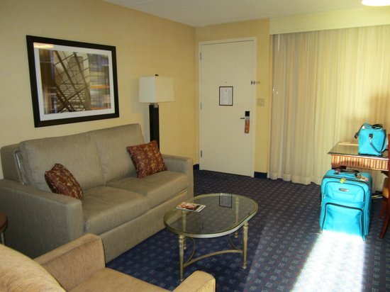 Embassy Suites by Hilton Boston / Waltham: Coin salon de la chambre