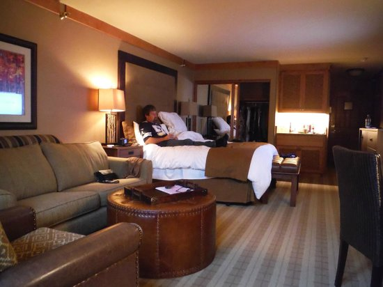Wyoming Inn of Jackson Hole: relaxing bofore heading out