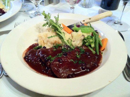 Juliano's: Elk tenderloins with garlic mashed potatoes