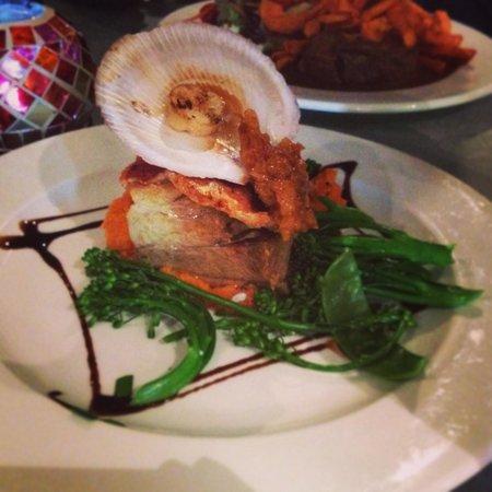 The Tree Restaurant: Pork Belly & Hervey Bay Scallop. AMAZING