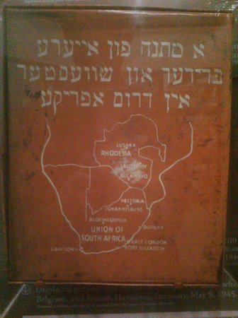 The Breman Jewish Heritage & Holocaust Museum: Sign in Yiddish: A gift from your brothers and sisters in South Africa