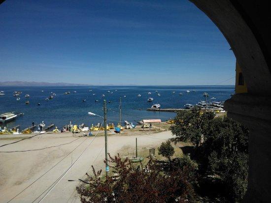 Hostel Leyenda: Vista da varanda dos quartos