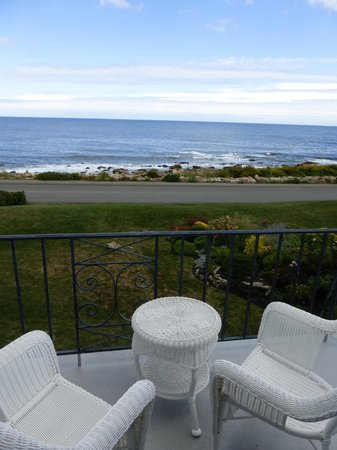 Ocean House Hotel at Bass Rocks: view from porch