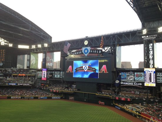 Chase Field: Rooftop and sides opening