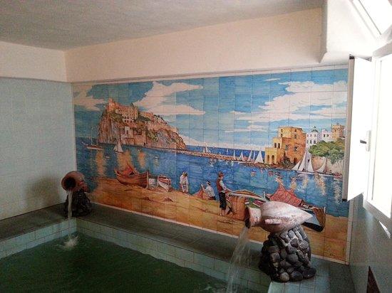 Residence Baia di Sorgeto: piscina termale