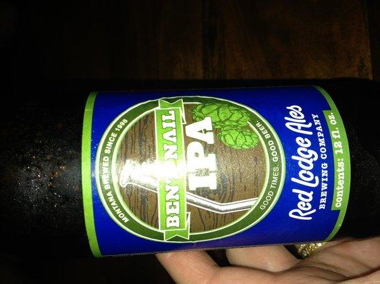 Chico Hot Springs Resort: Great beer selection!