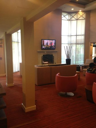 Courtyard Springfield: Relax and watch TV.