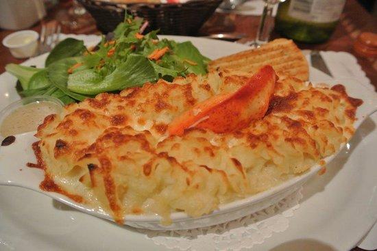 Café de l'Anse du Centre Culturel Le Griffon : Gratin de fruit de mer avec supplément homard