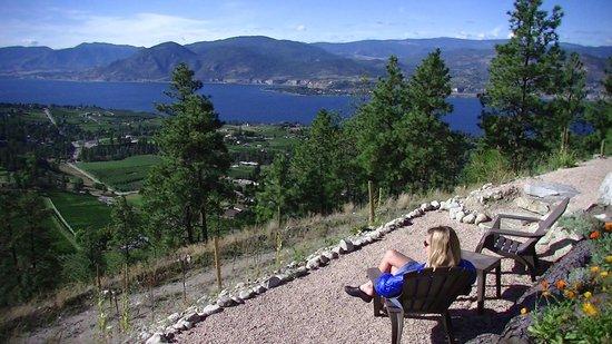 Forgotten Hill Bed & Breakfast: enjoying the garden and view