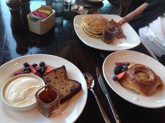 Flannel: almond bread, cinnamonster, pancakes