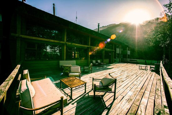 Yelcho en la Patagonia: Terrace view of Yelcho hotel