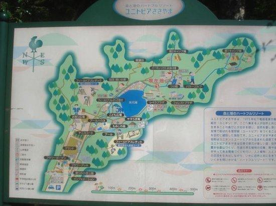 Unitopia Sasayama: map