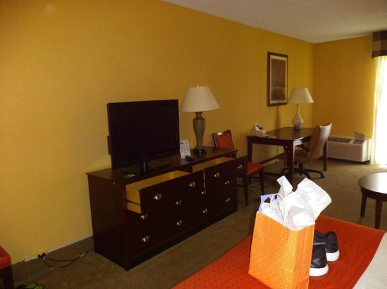 Red Lion Hotel Harrisburg Hershey : TV and dresser