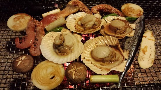 Robata Renga : Grill seafood and vegetables!