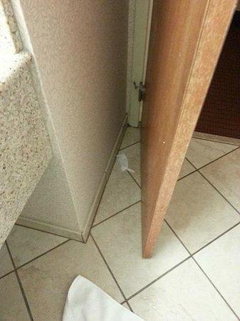Holiday Inn Boston Brookline: never cleaned behind door