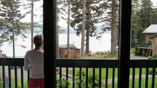 Big Timber Lodge: a view from our cabin's porch