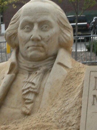 Morristown National Historical Park, Washington Headquarters and Museum: George Washington Sandsculpture