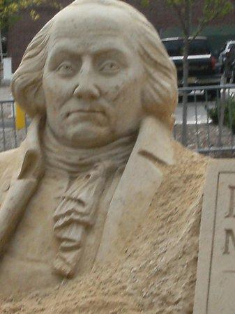 Morristown National Historical Park, Washington Headquarters and Museum : George Washington Sandsculpture
