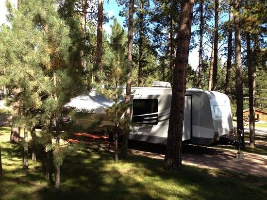 Fort Welikit Family Campground : Our new Open Range camper at Fort Welikit Campground